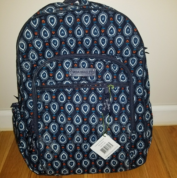 6767d12a7c8b Vera Bradley Campus Backpack Marrakesh Motifs. M 5b56274e2beb7969e521e771